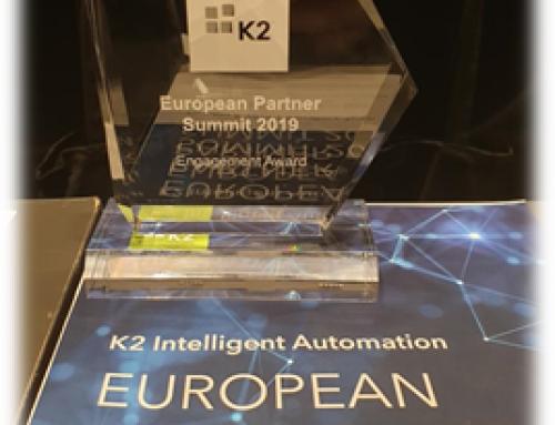 Apendo receives K2 Engagement Award