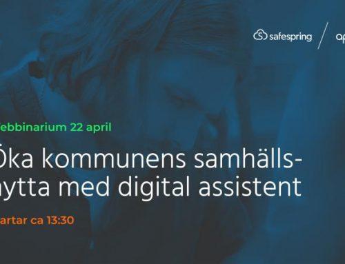 Webbinar med apendo & Safespring – Öka kommunens samhällsnytta med digital assistent