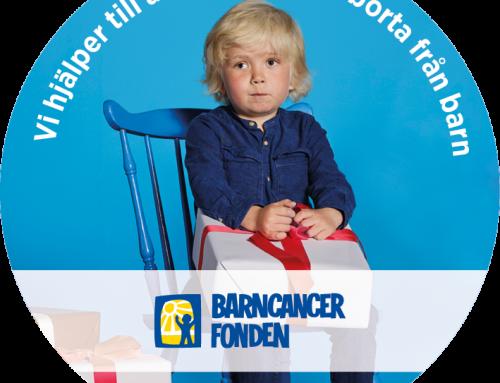 Apendo stödjer Barncancerfonden